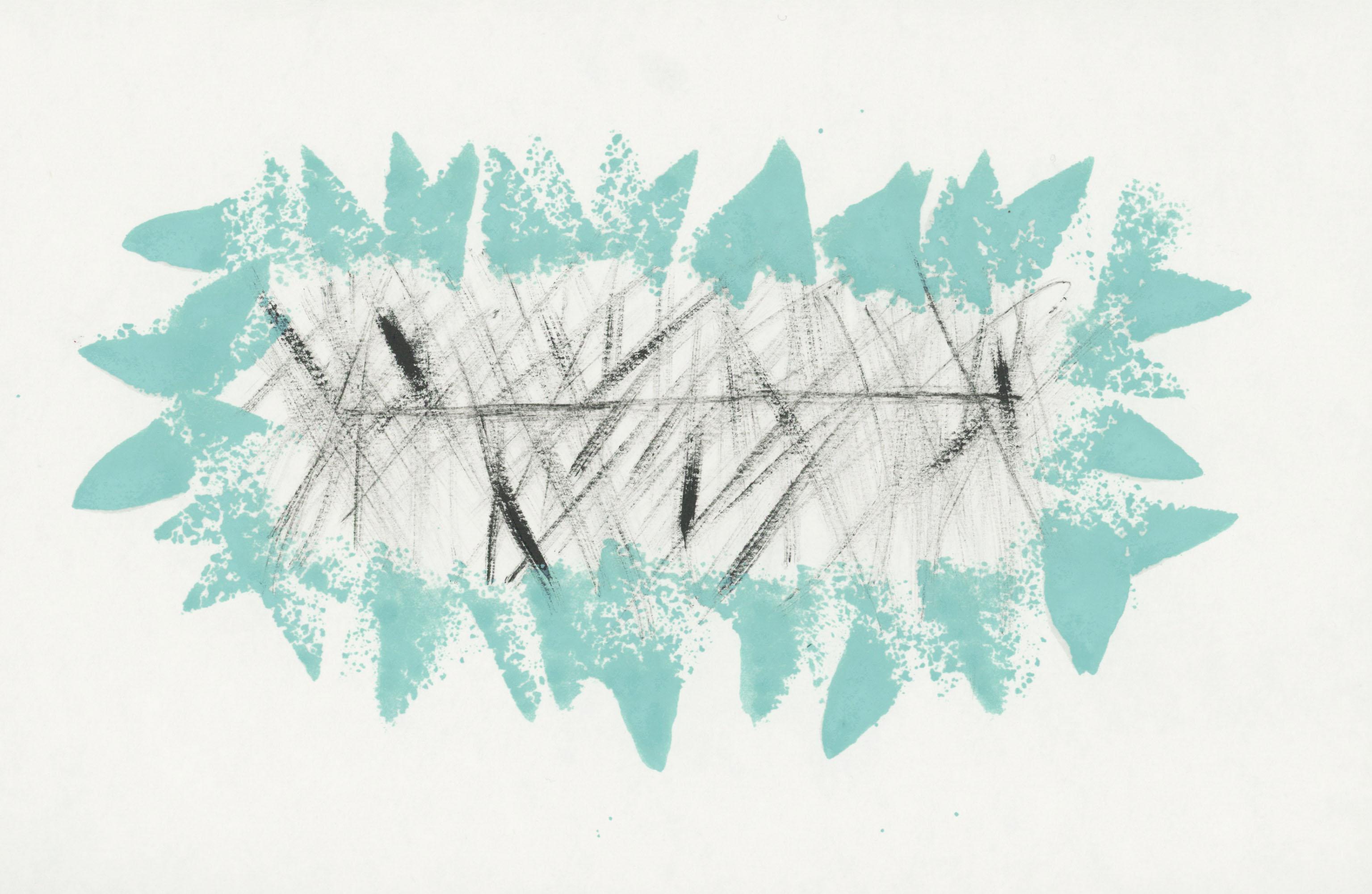 24. Enamel on paper. 28 x 18cm
