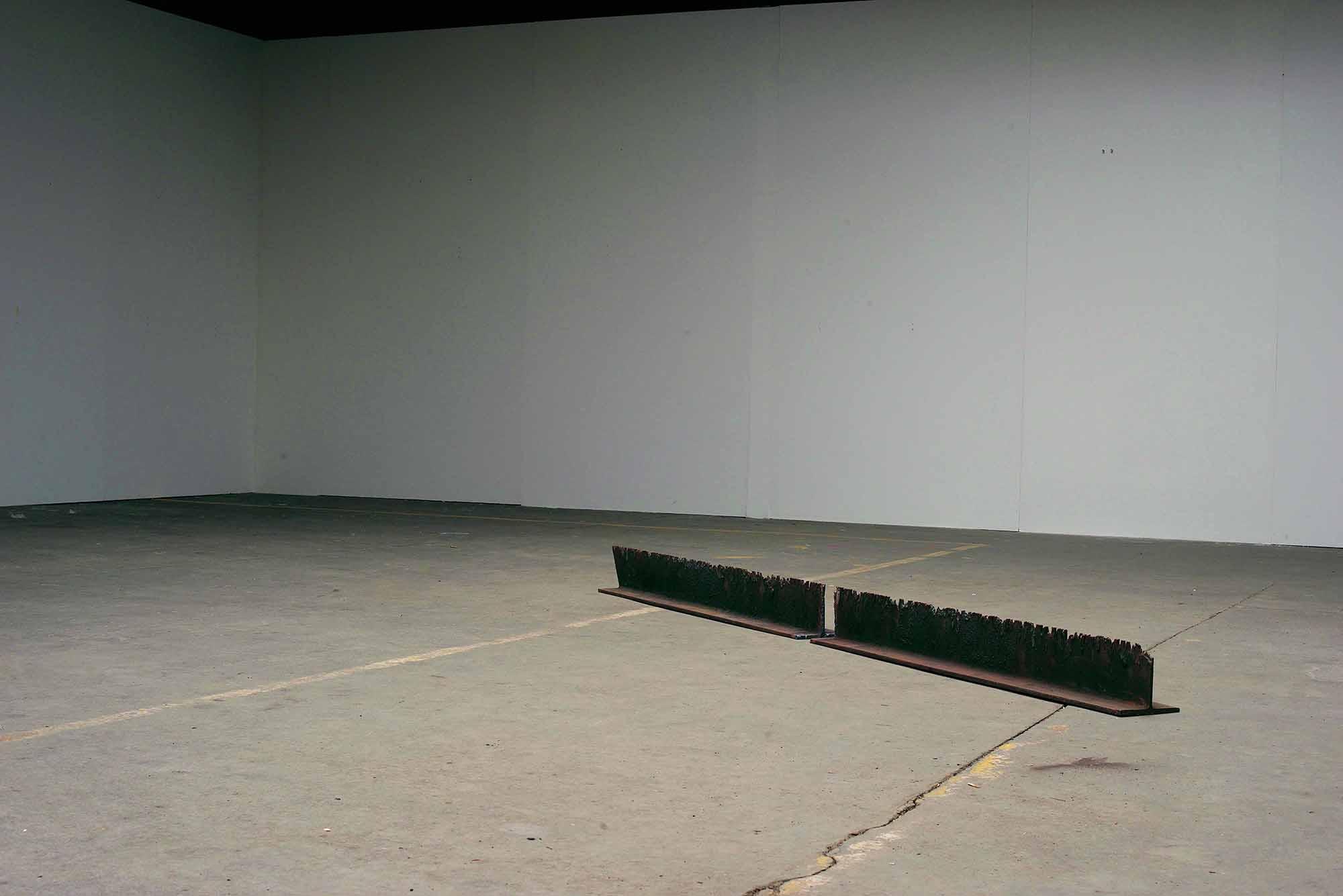 Mild steel. 263 x 14 x 14cm