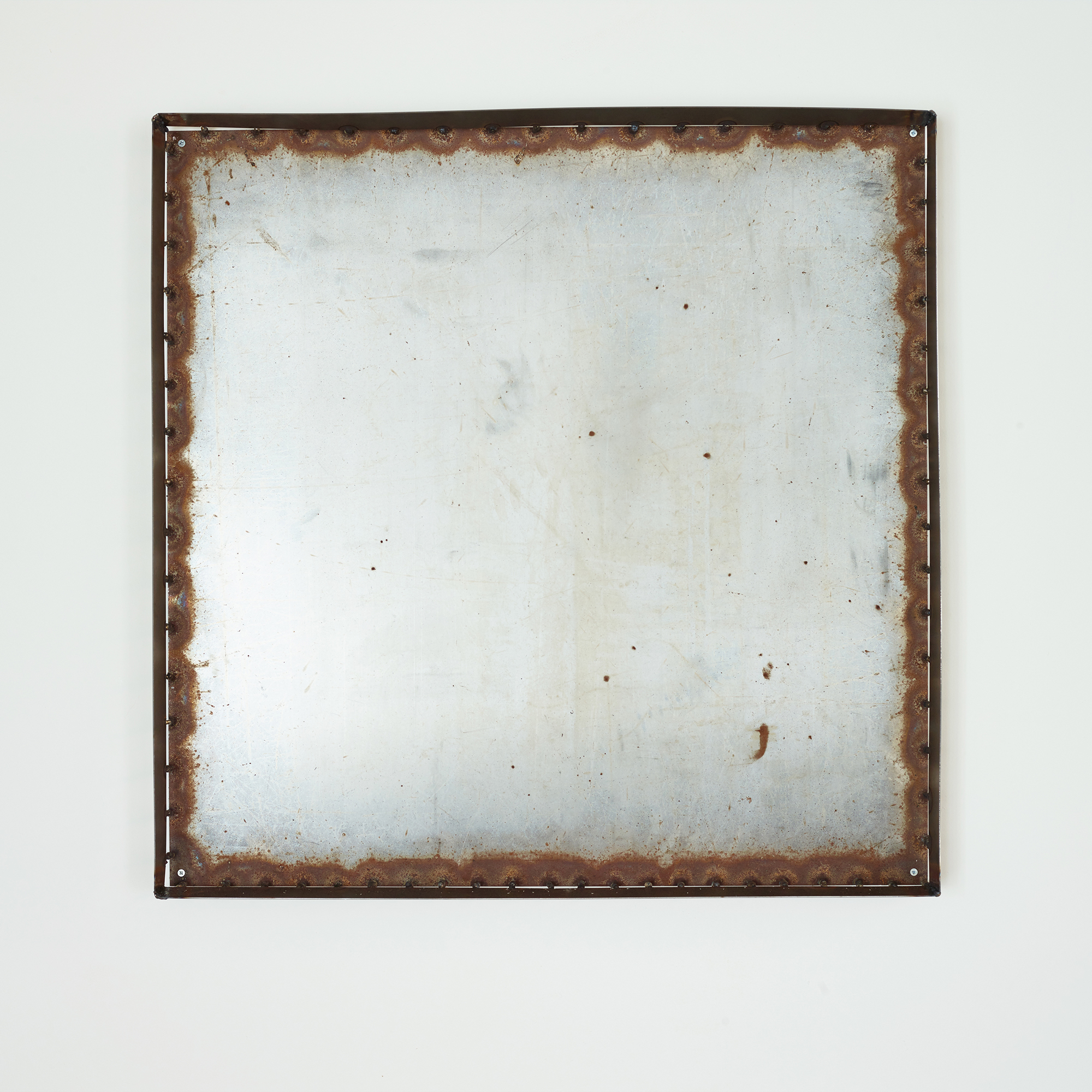 Mild steel and stainless steel weld. 96 x 96 x 10cm