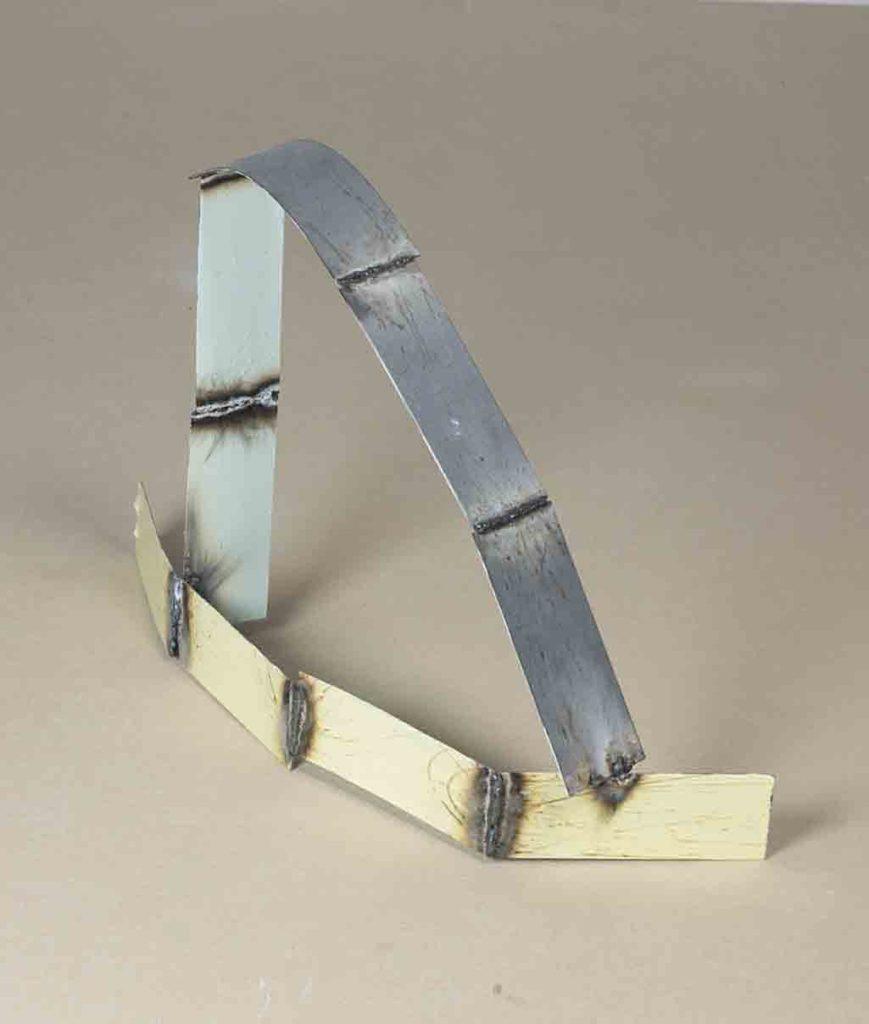 Mild steel sheet, mild steel weld, household gloss. 47 x 70 x 20cm