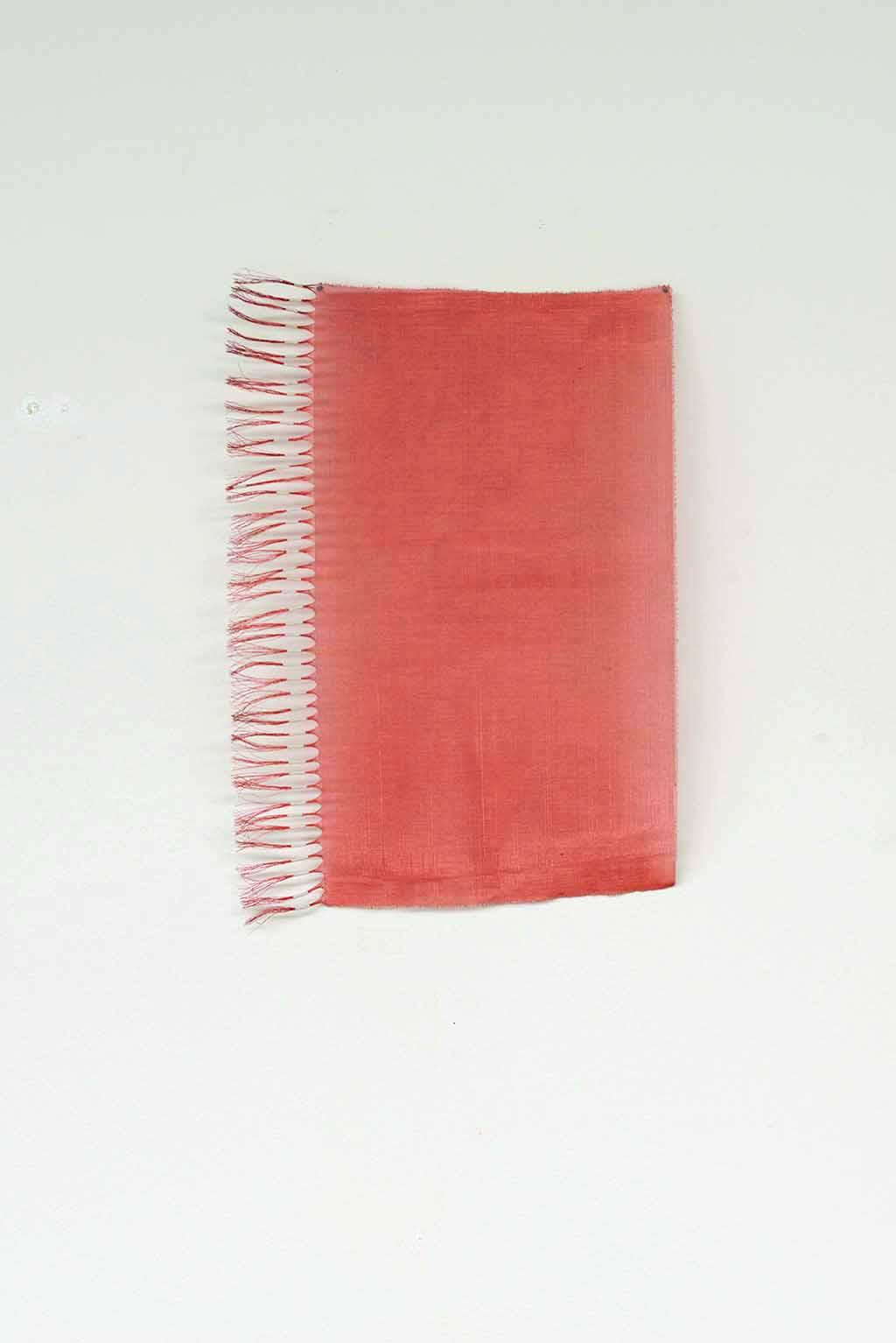 Copper mesh and shrink plastic. 31 x 21 x 2cm
