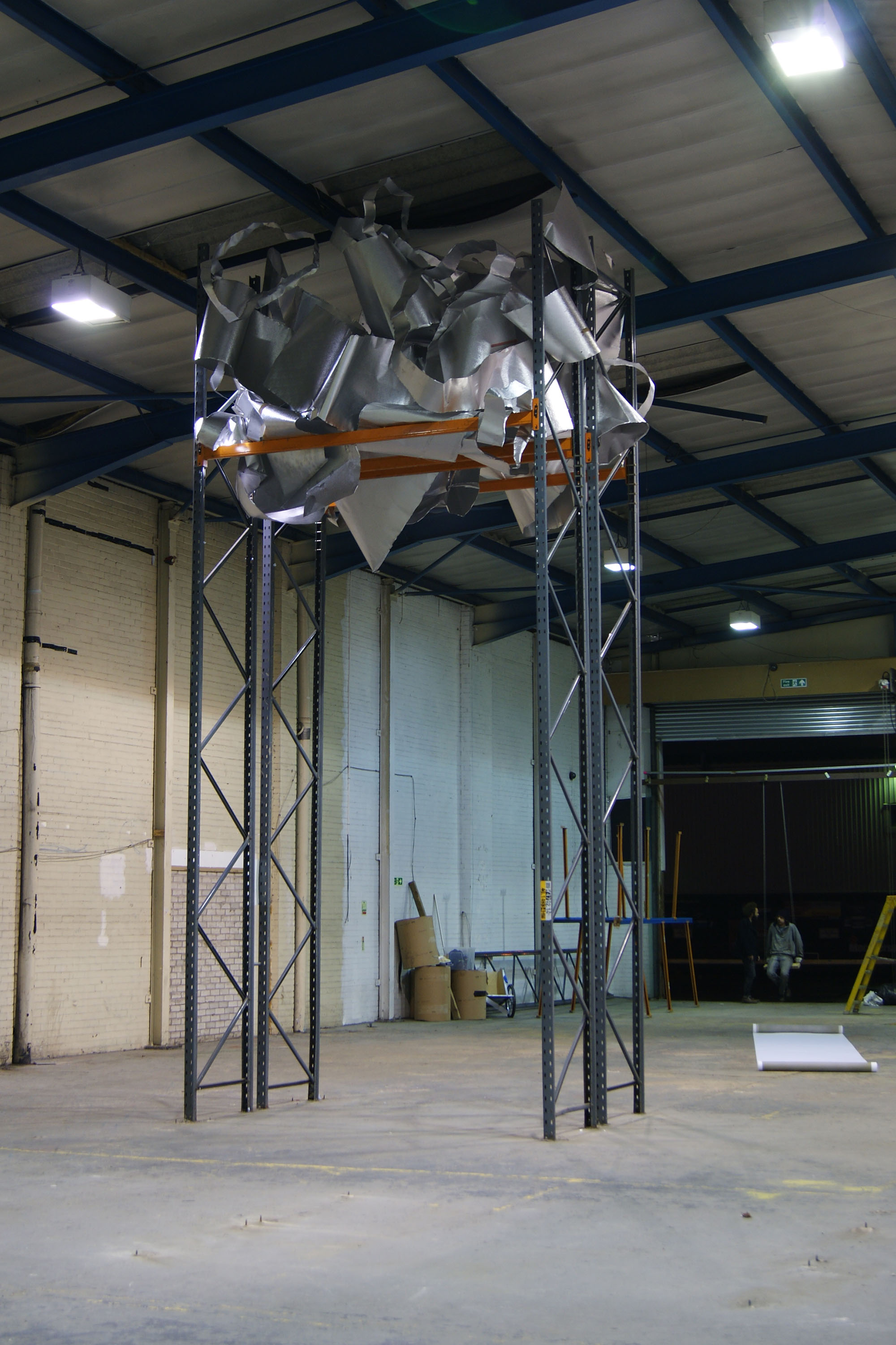 Steel powder coated racking and aluminium. Site specific installation at Caustic Coastal. Approx 7m x 4m x 3m