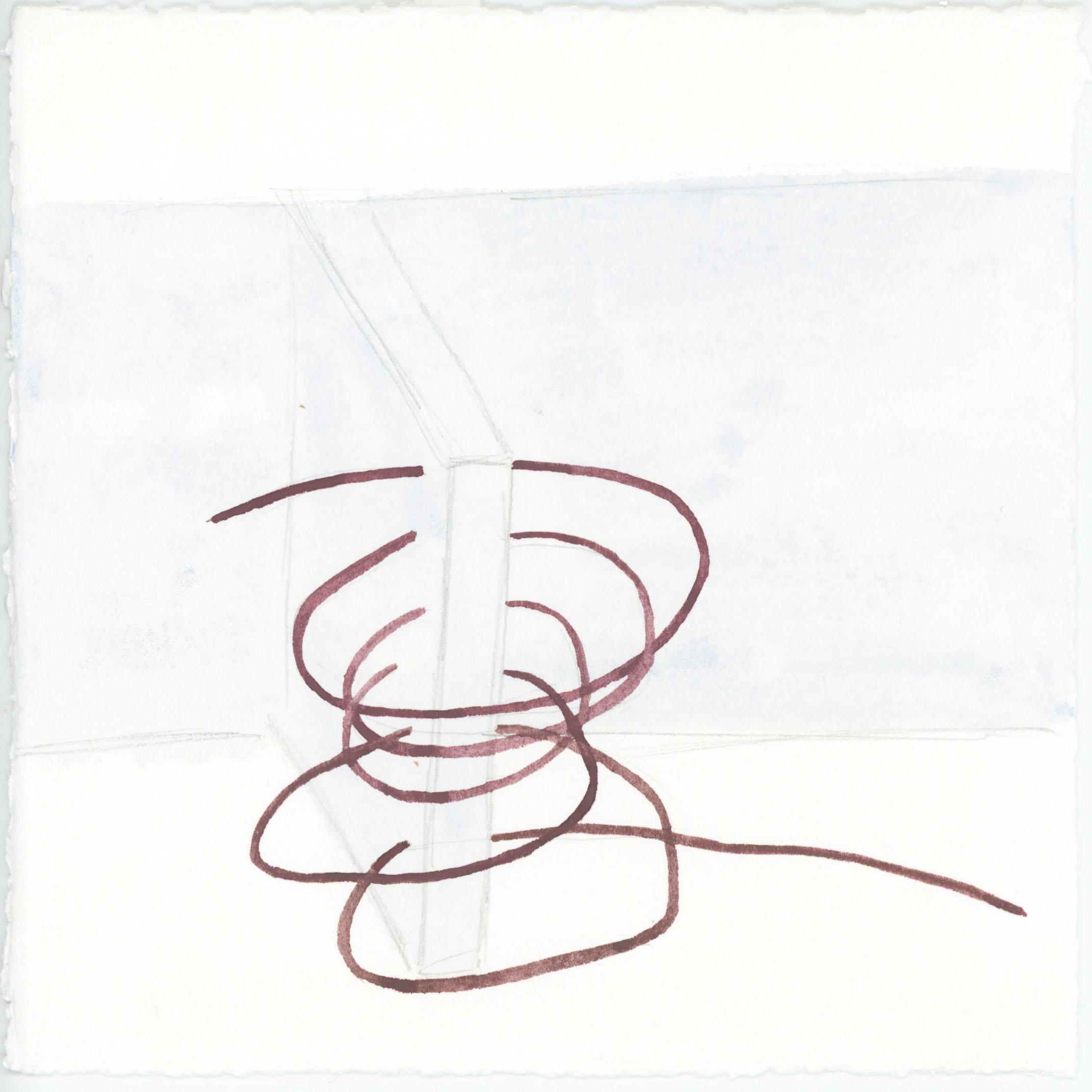 19. Watercolour on paper. 13 x 13CM
