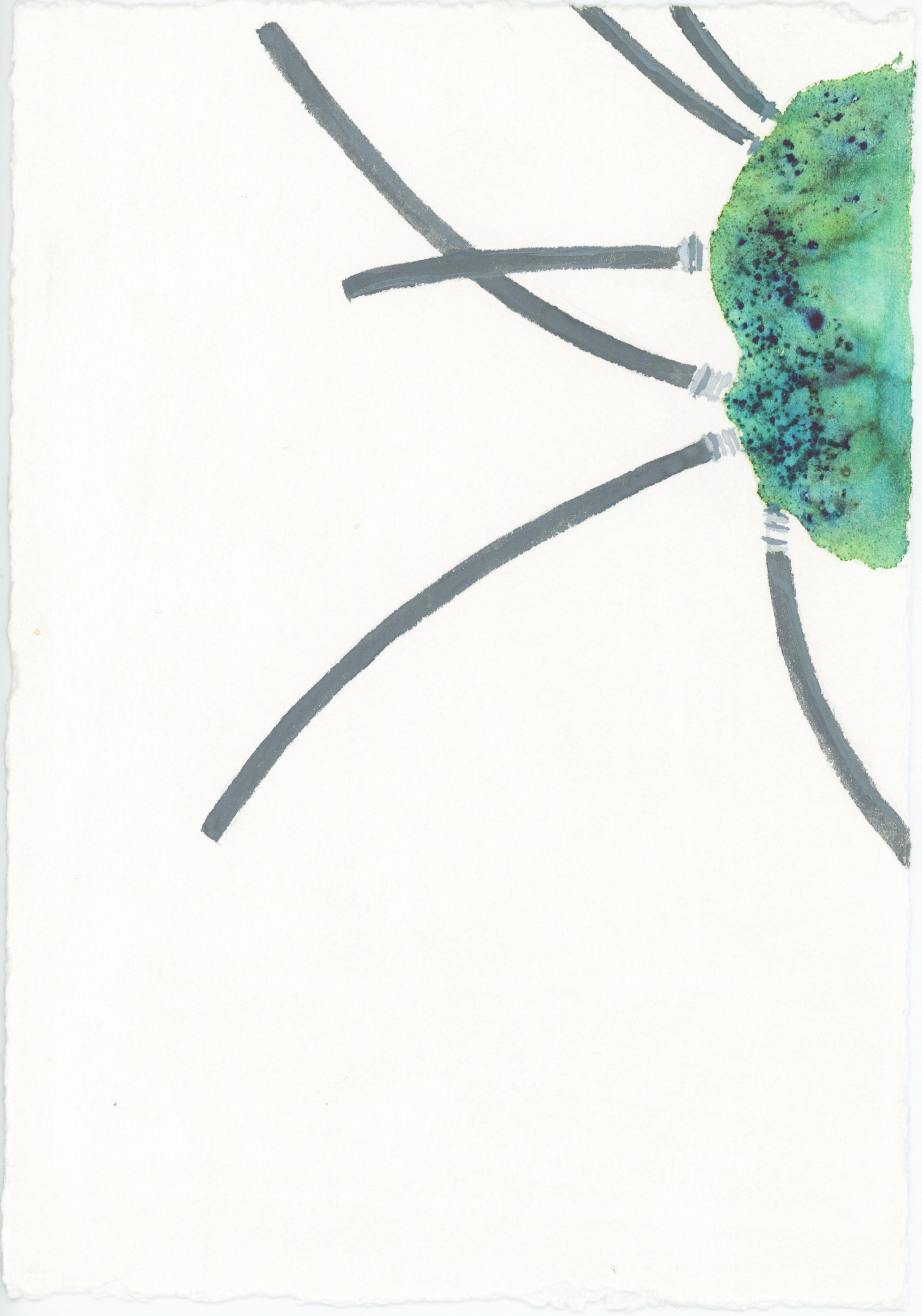 3. Powder dye and watercolour on paper. 25 x 18cm